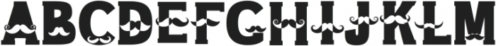 Mustache Regular otf (400) Font UPPERCASE