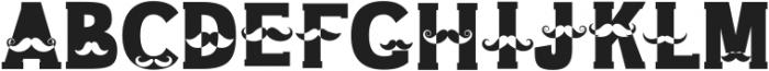 Mustache Regular otf (400) Font LOWERCASE