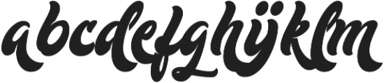 Mustardo Alternates ttf (400) Font UPPERCASE