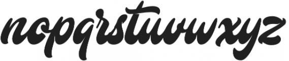 Mustardo otf (400) Font LOWERCASE