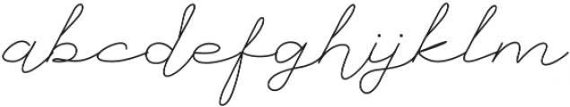 Mustika Regular otf (400) Font LOWERCASE