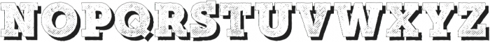 Mutiara Vintage02Shadow Regular otf (400) Font UPPERCASE