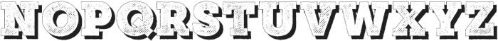 Mutiara Vintage02Shadow Regular otf (400) Font LOWERCASE