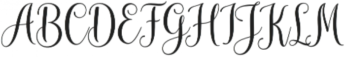 mudhisa script Regular otf (400) Font UPPERCASE
