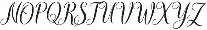 mudhisa slant Regular otf (400) Font UPPERCASE