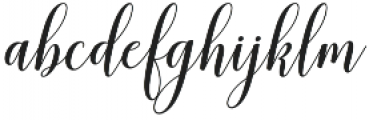 mudhisa slant Regular otf (400) Font LOWERCASE