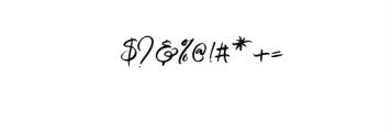 Mustangbrush-Regular.otf Font OTHER CHARS