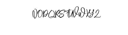Mustangbrush-Regular.otf Font UPPERCASE