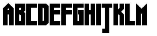 Muzarela Semiexpanded Black Font UPPERCASE