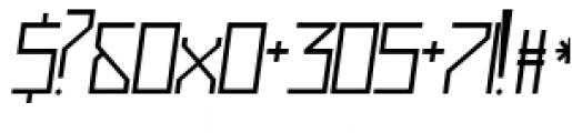 Muzarela Semiexpanded Light Italic Font OTHER CHARS
