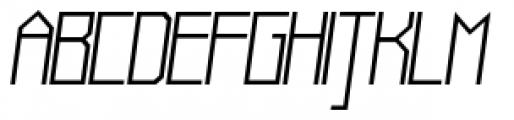 Muzarela Semiexpanded Light Italic Font UPPERCASE