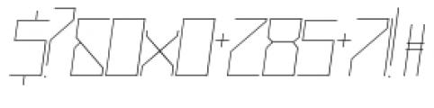 Muzarela Semiexpanded Thin Italic Font OTHER CHARS