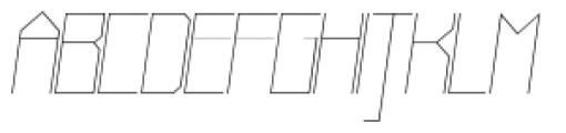 Muzarela Semiexpanded Thin Italic Font UPPERCASE