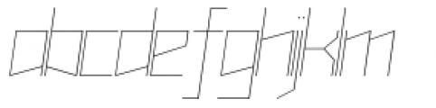 Muzarela Semiexpanded Thin Italic Font LOWERCASE