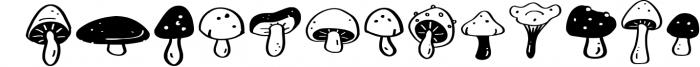 Mushroom Growing Script Font Font UPPERCASE