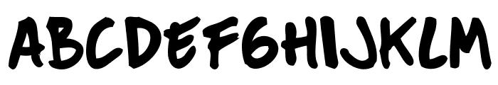 Mucky Sans Font UPPERCASE