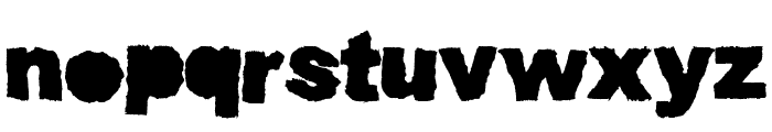 Muddy Tractor Bold Font LOWERCASE