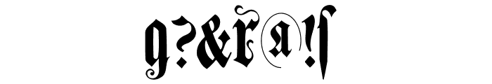 MuenchnerFraktur Font OTHER CHARS