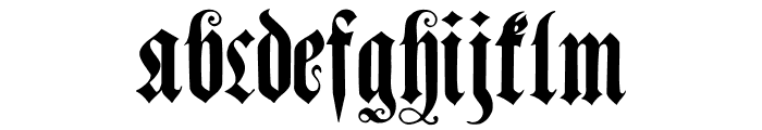 MuenchnerFraktur Font LOWERCASE