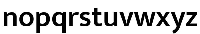 Mukta Mahee SemiBold Font LOWERCASE