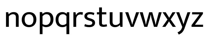 Mukta Regular Font LOWERCASE