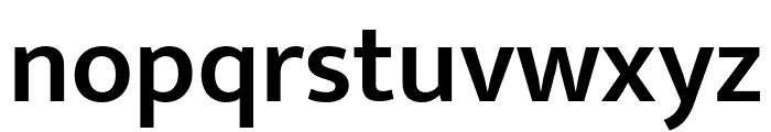 Mukta SemiBold Font LOWERCASE