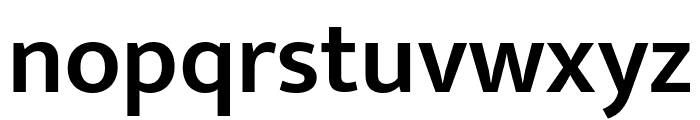 Mukta Vaani SemiBold Font LOWERCASE