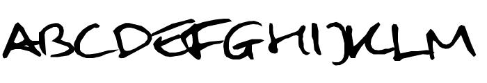 Mulder handwriting Font UPPERCASE