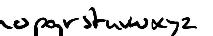 Mulder's handwriting Font LOWERCASE