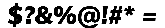 Muli Black Italic Font OTHER CHARS