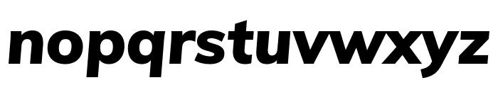 Muli Black Italic Font LOWERCASE