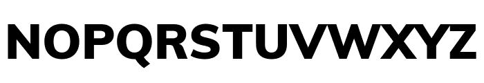 Muli Black Font UPPERCASE