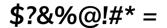 Muli Bold Italic Font OTHER CHARS