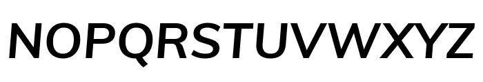 Muli Bold Italic Font UPPERCASE