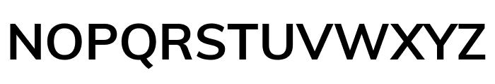 Muli Bold Font UPPERCASE
