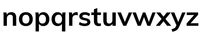 Muli Bold Font LOWERCASE