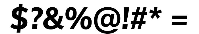 Muli ExtraBold Italic Font OTHER CHARS