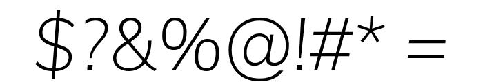 Muli ExtraLight Italic Font OTHER CHARS