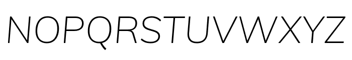 Muli ExtraLight Italic Font UPPERCASE