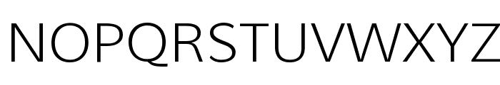 Muli Light Font UPPERCASE