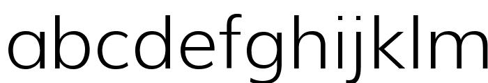 Muli Light Font LOWERCASE