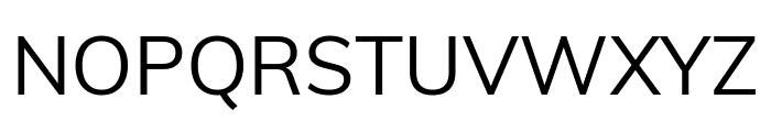 Muli Regular Font UPPERCASE
