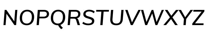 Muli SemiBold Italic Font UPPERCASE