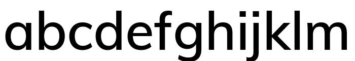 Muli SemiBold Font LOWERCASE