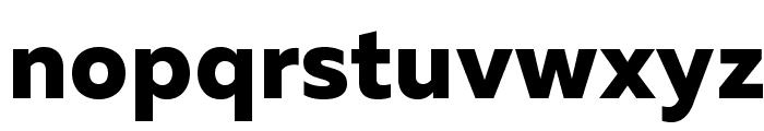MullerExtraBoldDEMO Font LOWERCASE