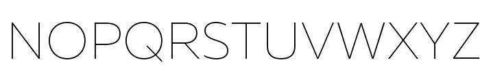 MullerThinDEMO Font UPPERCASE