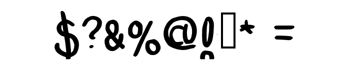 MultiEmily Regular Font OTHER CHARS