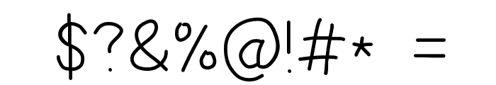 Multilingual Hand Font OTHER CHARS