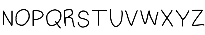 Multilingual Hand Font UPPERCASE
