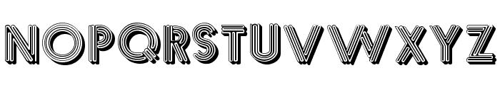 Multistrokes Font UPPERCASE